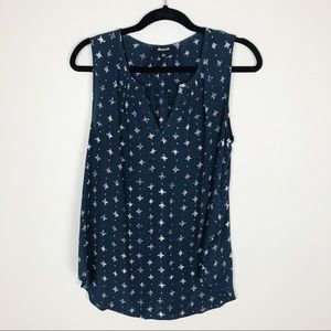 Madewell patterned dot tank top blouse